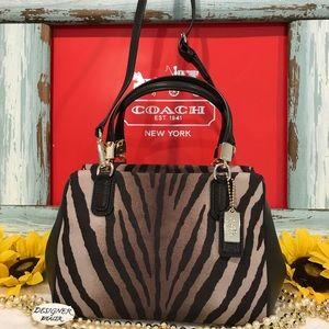 Auth COACH Madison Zebra Print Satchel Small EUC!